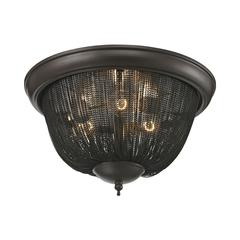 Pesaro 3 Light Flushmount In Oil Rubbed Bronze