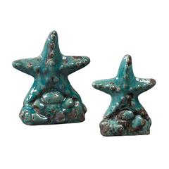 Set Of 2 Ceramic Star Fish