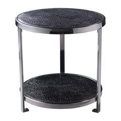 Sterling Black Croc Coffee Table