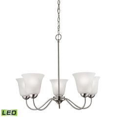 Conway 5 Light LED Chandelier In Brushed Nickel