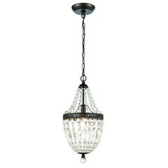 Sterling Mini Chandelier In Dark Bronze And Clear