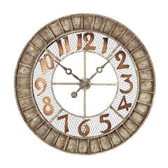 Sterling Round Metal Outdoor Wall Clock.