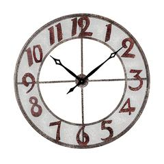 Sterling Metal Outdoor Wall Clock