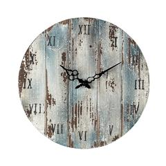 Sterling Wooden Roman Numeral Outdoor Wall Clock.