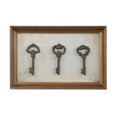 Framed Antique Reproduction Keys