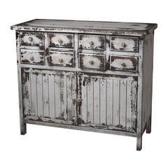 Chest In Heavily Distressed White Finish