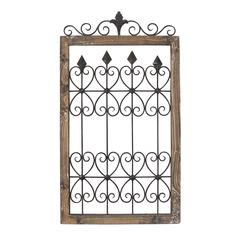 Metal & Wood Gate Wall Décor