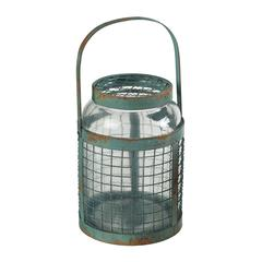 Glass & Metal Mesh Hurricane