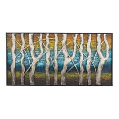 Sterling Queen Lake-White Birch At Dawn Metal Wall Décor