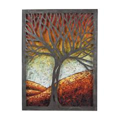 Whitney-Autumn Scene Metal Wall Décor