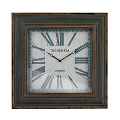Sterling Large Clock With Distressed Hand painted Frame