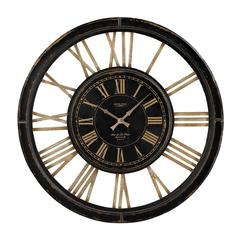 Large Clock With Distressed Hand painted Frame