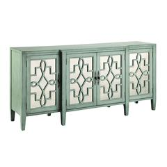 Lawrence Cabinet In Soft Gray-Blue