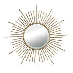 Sterling White Lodge Mid-Century Sunburst Wall Mirror By
