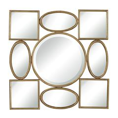 Lisnagry Modern Simple Shapes Wall Mirror By