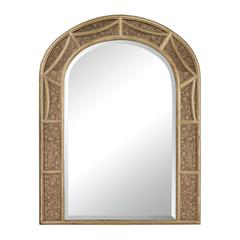 Sterling Arch Mirror With Antique Glass Surround.