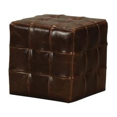 Sterling Leather Ottoman