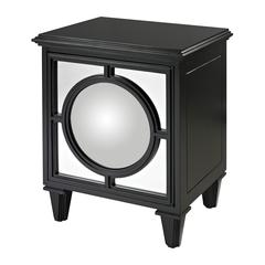 Mirage Gloss Black Cabinet With Convex Mirror By