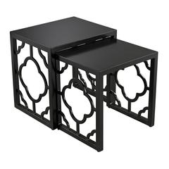 Gloss Black Nesting Table