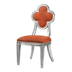 Petal Back Dining Chair In Orange