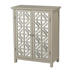 Vivienne Mirrored Cabinet In Off White By