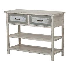 Sterling Sandall-Side Board With Drawers And Shelf In Antique Cream