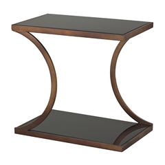Sterling Misterton Rectangle Side Table With Curved Legs By