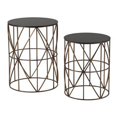 Bradfield-Set Of 2 Drum Side Tables