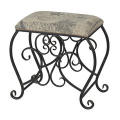 Cudworth-Scroll Leg Bench With Parisian Fabric