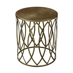 Sutton-Accent Table In Gold Leaf