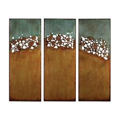 Sterling Hollingworth-Set Of 3 Abstract Landscape Wall Panels