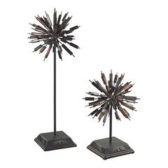 Sterling Boulevard-Set Of 2 Abstract Finials
