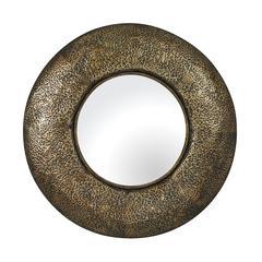 Sterling Northeden-Mirror In Hammered Metal Frame