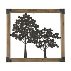 Sterling Sherwood-Tree Wall Décor In Natural Wood Frame
