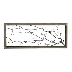 Sterling Ramblewood-Bird On Branch Metal Wall Panel