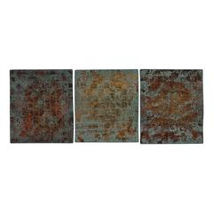 Sterling Colony-Woven Metal Wall Panels With Heavy Patina