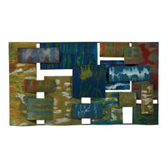 Broward-Contemporary Hand Painted Metal Wall Collage