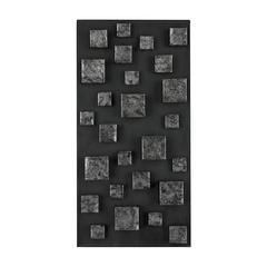 Nova Contemporary Wall Panel In Etched Silver (Rectangle) By
