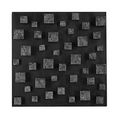 Sterling Nova Contemporary Wall Panel In Etched Silver (Square) By