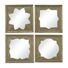 Sterling Pine Island-Set Of 4 Moroccan Motif Inspired Mirrors