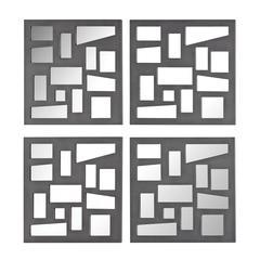 Set Of 4 Mirrored Panels