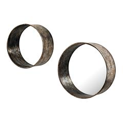 Oil Drum Mirrors - Set of 2