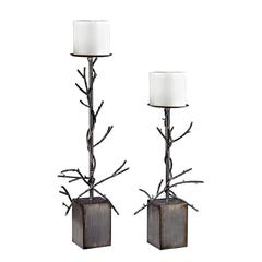 Sterling Set Of 2 Branch Candle Holders