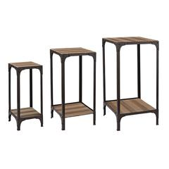 Sterling Set Of  Plant Stands With Bottom Shelf