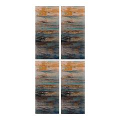 Sterling Set Of 4 Abstract Printed Metal Wall Décor Panels