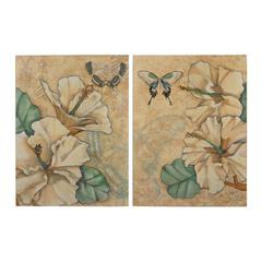 Set Of 2 Printed Metal Wall Décor Panels