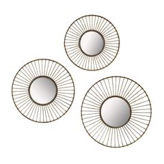 Set of 3 Wirework Wall Mirrors