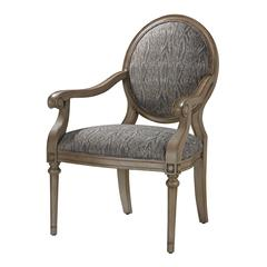 Sterling Luxe Accent Chair In Grey