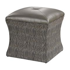 Sterling Luxe Ottoman - Grey