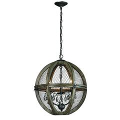 Lazy Susan Small Renaissance Invention Wood And Wire Chandelier